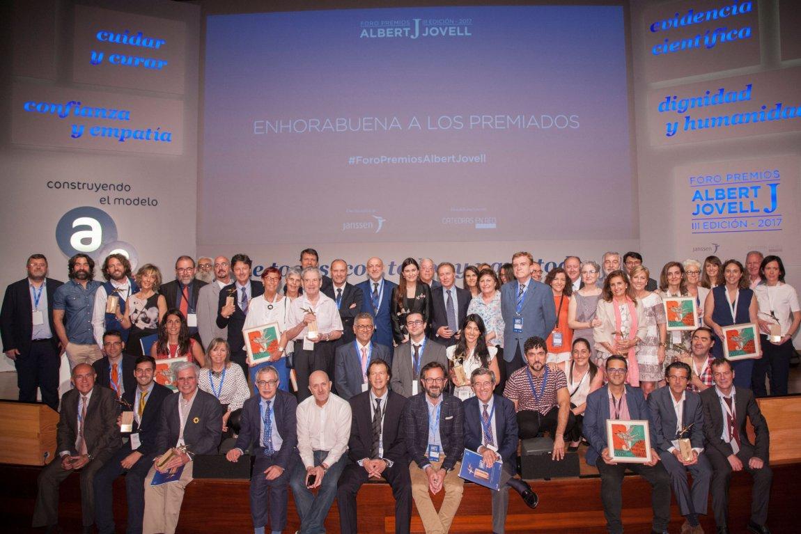 Premiados, ponentes y jurado del Foro Premios Jovell 2017