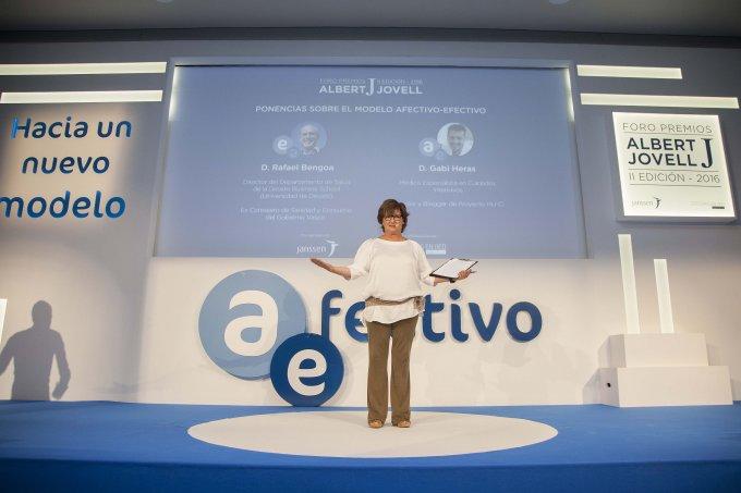 Olga Viza en los Premios Albert Jovell